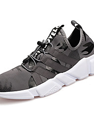 cheap -Men's Shoes Fabric Spring Fall Comfort Athletic Shoes Walking Shoes Lace-up For Casual Black Gray