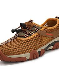 Недорогие -Муж. обувь Тюль Лето Удобная обувь Спортивная обувь Для пешеходного туризма Коричневый / Военно-зеленный / Тёмно-синий