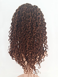 cheap -Kinky Curly #4 Lace Front Human Hair Wigs With Baby Hair Brazilian Remy Hair Lace Wigs