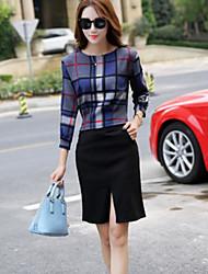 cheap -Women's T-shirt - Check Skirt