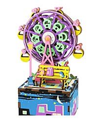 abordables -Boîte à musique Puzzle Jouets Nouveauté Plastique Bois Pièces Unisexe Cadeau