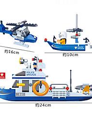abordables -Petites Voitures Blocs de Construction Puzzles 3D Avion Bateau A Faire Soi-Même Plastique Voiture de Police Enfant Fille Garçon Cadeau