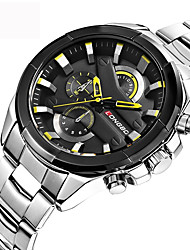 cheap -Men's Sport Watch / Military Watch / Wrist Watch Japanese Water Resistant / Water Proof / Creative / Cool Stainless Steel Band Luxury / Vintage / Casual Black / Silver / Gold / Large Dial