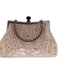 cheap -Women's Bags Polyester Evening Bag Rhinestone / Pearls for Wedding / Event / Party / Formal Gray / Purple / Navy Blue