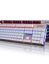 economico -Ajazz firstblood 104 tasti tastiera meccanica nero switches ak40s tastiera di gioco retroilluminata