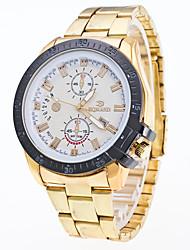 Men's Wrist watch Dress Watch Fashion Watch Chinese Quartz Calendar / date / day Metal Stainless Steel Band Cool Silver Gold Rose Gold