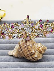 abordables -cristal rhinestone aleación tiaras diademas casco estilo elegante