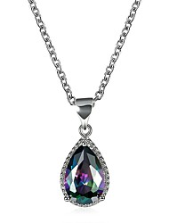 cheap -Women's Cubic Zirconia Zircon Pendant Necklace - Fashion Drop Rainbow Necklace For Party Daily Casual Office & Career
