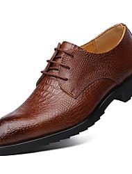 baratos -Homens sapatos Pele Couro Inverno Primavera Verão Outono Sapatos formais Inovador Oxfords Combinação para Casual Escritório e Carreira Ao