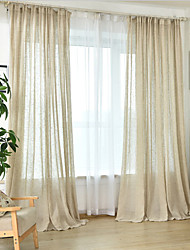 Rod Pocket Grommet Top Tab Top Double Pleat Pencil Pleat Curtain European , Hand-made Solid Bedroom Material Sheer Curtains Shades Home