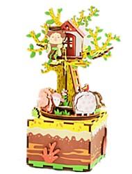 cheap -Music Box Wood Carousel DIY Music Kid's Unisex Gift