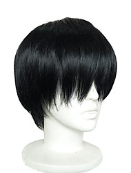 cheap -Synthetic Wig / Cosplay & Costume Wigs Straight Synthetic Hair Black Wig Short Capless