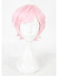 cheap -Synthetic Wig / Cosplay & Costume Wigs Straight Pink Synthetic Hair Faux Locs Wig Pink Wig Short Capless