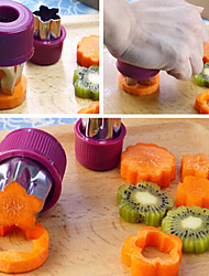 Vegetable Fruit Mold Set of 8 Stainless Steel Bread Sandwich Mold Vegetable&Fruit Cheese Cookie Cutters Shapes Set for Kids