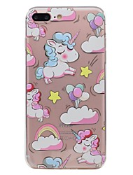 Pour Apple iphone 7 7plus téléphone boîtier tpu matériel unicorn motif voiture peinte 6s plus 6plus 6s 6 se 5s 5