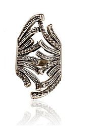 Vintage Zinc Alloy Diamond-Encrusted Rings In European And American Fashion 006