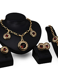 cheap -The Latest European And American Exaggerated Fashion High-End Ladies Jewelry Set / Ring / Earrings / Necklace / Bracelet