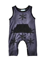 Baby Boy's Print One-Pieces,Cotton Summer Sleeveless Black