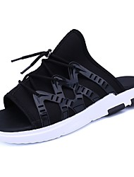 cheap -Men's Shoes Fabric Summer Comfort Slippers & Flip-Flops for Casual Outdoor Black Black/Silver Black/White