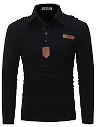 Polo Homme,Couleur Pleine Sports Vacances Sortie Décontracté / Quotidien Soirée Grandes Tailles Vintage simple Chinoiserie Automne Hiver