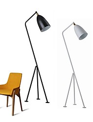 cheap -Metallic Contemporary Artistic Creative Modern/Contemporary Floor Lamp For Metal 110-120V 220-240V White Black