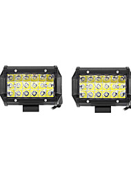 2PCS 54W 5400lm 6000K LED White Spot 3-Rows Working Light for Car/Boat/Headlight   9v-32v