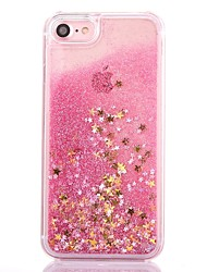 cheap -Case For Apple iPhone 8 iPhone 8 Plus Flowing Liquid Transparent Pattern Back Cover Geometric Pattern Glitter Shine Hard PC for iPhone 8