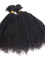 cheap -Indian Hair Kinky Curly Bundle Hair Human Hair Weaves Natural Black