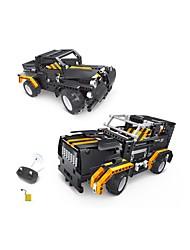 economico -Macchinine giocattolo Costruzioni Controllo radio Gioco educativo Camion Giocattoli Auto Furgone Telecomando Fai da te Plastica