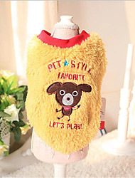 cheap -Dog Vest Dog Clothes Animal Yellow Blue Cotton Down Costume For Pets Casual/Daily