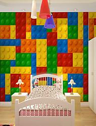 abordables -Art Decó 3D Arco iris Decoración hogareña Bonito Modern Revestimiento de pared, Lona Material adhesiva requerida Mural, Revestimiento de