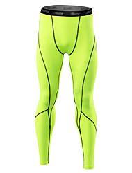 cheap -21Grams Men's Running Tights Gym Leggings Quick Dry Anatomic Design Soft Reflective Strips Held-In Sensation Compression Tights Bottoms