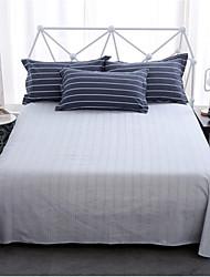 cheap -Comfortable Poly/Cotton Flat Sheet Plain Stripe Printed 300 Tc 1pc Flat Sheet 2pcs Pillowcases Printed