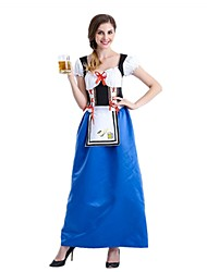 cheap -Oktoberfest/Beer Cosplay Cosplay Costume Outfits Women's Adults' Oktoberfest Festival / Holiday Halloween Costumes Vintage