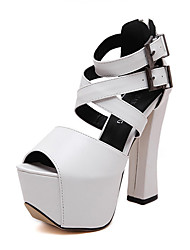 cheap -Women's Heels Spring / Summer / Fall / Winter Gladiator / Comfort / Novelty Leatherette Wedding / Party & Evening / Dress / Casual