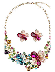cheap -Women's Synthetic Diamond Floral Luxury Bohemian Jewelry Set - Personalized Floral Luxury Flower Style Vintage Bohemian Flowers Geometric