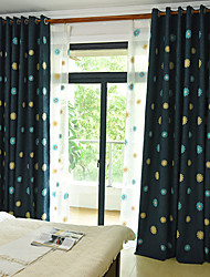 cheap -Rod Pocket Grommet Top Tab Top Double Pleat Pencil Pleat Curtain European, Embroidery Embroidery Bedroom Material Blackout Curtains Drapes