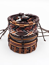 cheap -Men's Leather Bracelet Fashion Multi-ways Wear Leather Irregular Jewelry For Stage Street