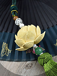 abordables -Diy pendentifs automobiles lotus bénisse la paix décoration stéréo de haute qualité buxus sinica feuille continue feuille vert pendentif