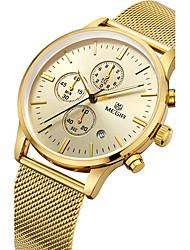 abordables -MEGIR Hombre Reloj de Pulsera Reloj creativo único Reloj Casual Reloj Madera Reloj Deportivo Reloj de Moda Cuarzo Calendario Acero