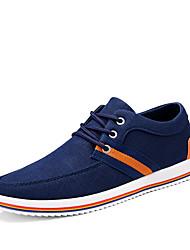 cheap -Men's Sneakers Comfort Spring Fall Denim Casual Outdoor Office & Career Lace-up Flat Heel Dark Blue Black Flat