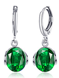cheap -Women's Crystal / Cubic Zirconia / AAA Cubic Zirconia Drop Earrings - Crystal, Zircon, Silver Plated Personalized, Luxury, Classic Dark Blue / Green / Light Blue For Christmas / Party / Birthday
