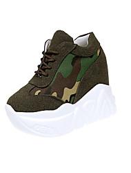 economico -Da donna Sneakers Comoda Poliestere Primavera Autunno Casual Lacci Basso Bianco Nero Cachi 10 - 12 cm