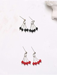 cheap -Women's Drop Earrings Hoop Earrings Earrings Set Onyx Natural Cute Style Fashion Luxury Simple Style Sterling Silver Line Jewelry For