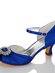 cheap -Women's Sandals Comfort Summer Fall Satin Wedding Dress Party & Evening Rhinestone Stiletto Heel Blue 2in-2 3/4in
