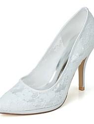 Недорогие -Жен. Обувь Сетка Весна Лето Формальная обувь Свадебная обувь На шпильке Заостренный носок для Свадьба Для вечеринки / ужина Белый Черный
