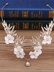 cheap -Rhinestone Fabric Alloy Flowers Head Chain 1 Wedding Special Occasion Birthday Party / Evening Headpiece