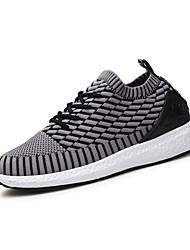 Men's Sneakers Comfort Light Soles Summer Fall Tulle Casual Outdoor Flat Heel Army Green Gray Black Flat