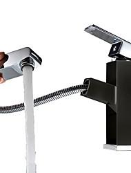 levne -Secese a retro Elegantní & moderní Elegantní & luxusní Baterie na střed Keramický ventil Single Handle jeden otvor Obraz, Koupelna