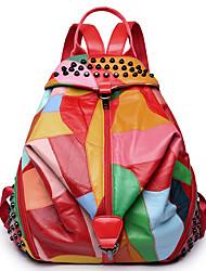 Недорогие -Женский Мешки Полиуретан рюкзак для Для праздника / вечеринки Повседневные Официальные на открытом воздухе Офис и карьера Все сезоны